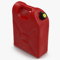 plastic petrol tank modeled 3d model