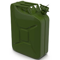 Jerry Can Metal Gas Can 3D Model