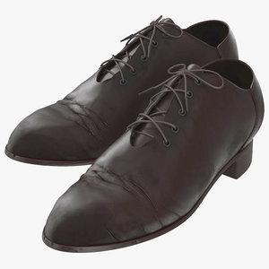 old man shoes modeled 3d model