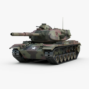 3d model m60a3 m60 patton