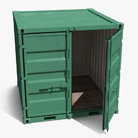 8 ft Storage Container Green 3D Model