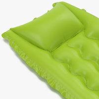 Inflatable Air Mattress 2 Green 3D Model