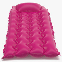 Inflatable Air Mattress 2 Pink 3D Model