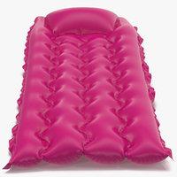 Inflatable Air Mattress 2 Pink 3D Model