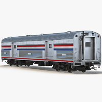 3ds railroad baggage car generic