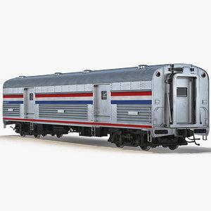 3ds railroad baggage car generic