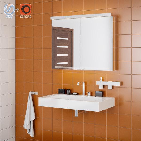 bathroom interior scene 3d 3ds