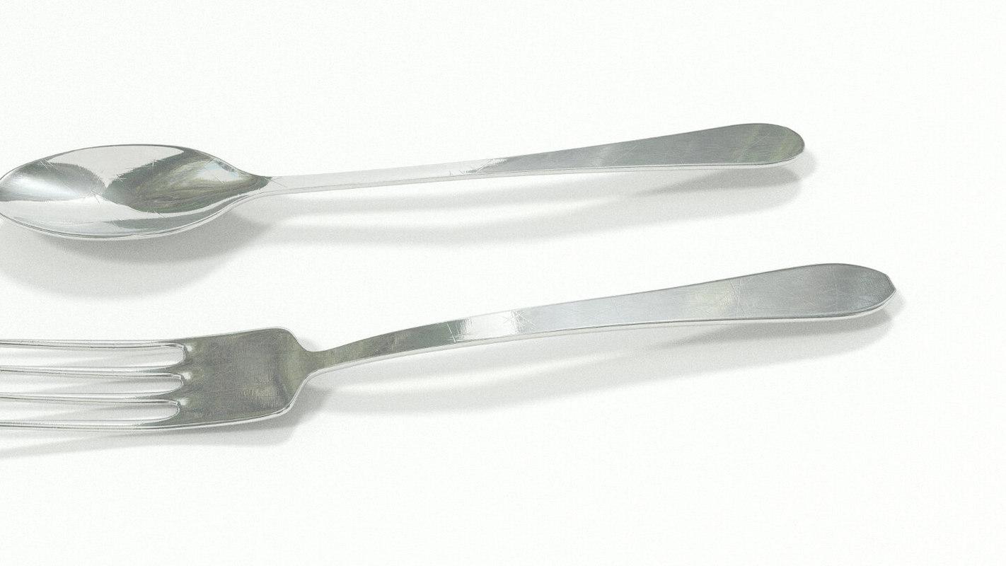 3d obj kitchen spoon
