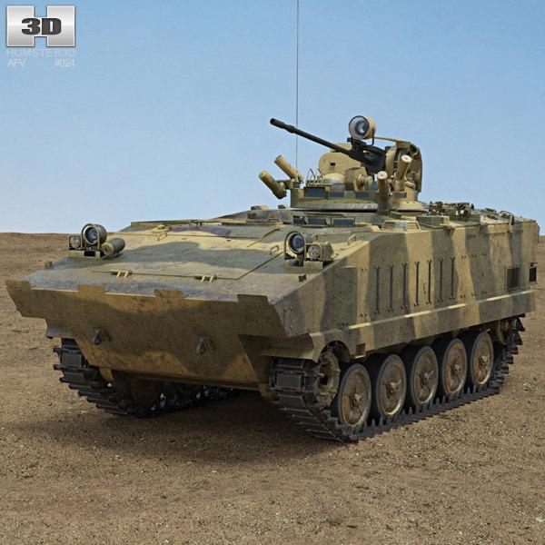 infantry fighting 3D model