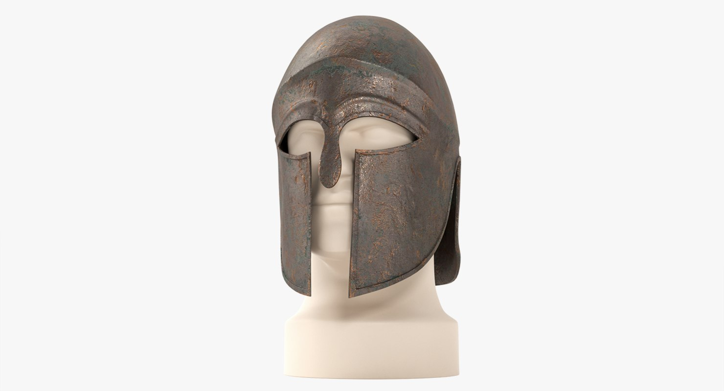 3d model of greek corinthian helmet