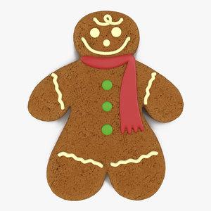 3d model gingerbread man modeled