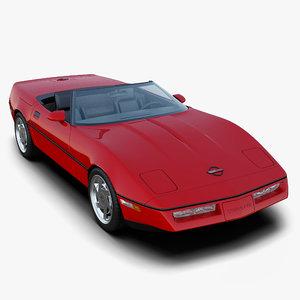 chevrolet corvette c4 convertible 3d obj