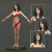 3d modeled body female
