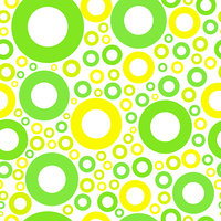 seamless pattern with green and yellow circles