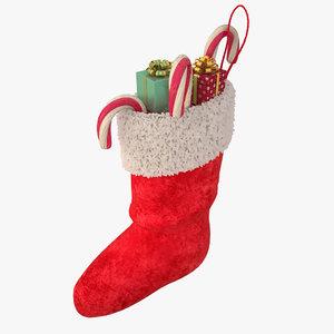 3d model of christmas stocking