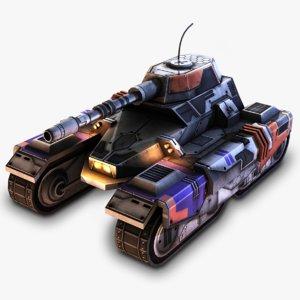 3d model sci-fi tank
