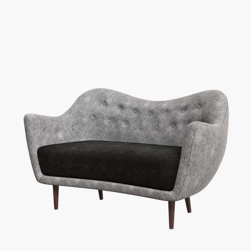 3D model modernity finn juhl sofa interior