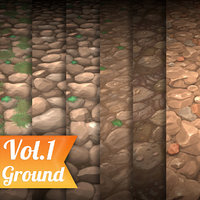 Texture Set Vol.01 Hand Painted Rock (Stylized Texture Rock)