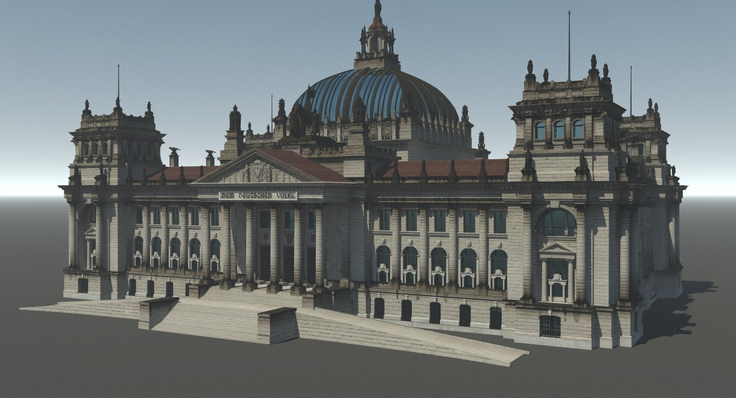 reichstag old version 3d max