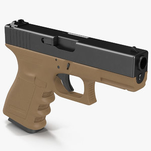3d model of compact pistol glock 19