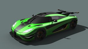 3d model koenigsegg one:1