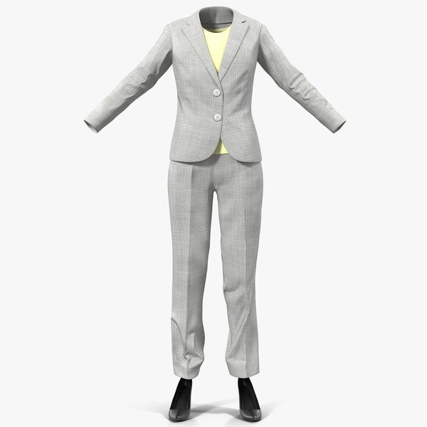 obj women workwear suit modeled
