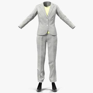 obj women workwear suit modeled
