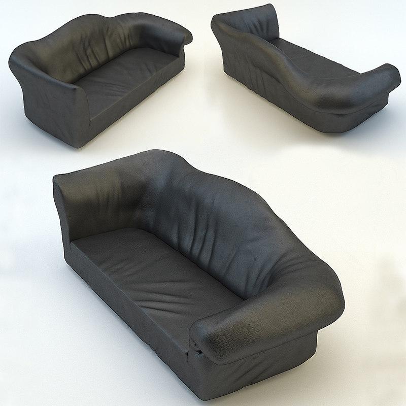 sofa edra sfatto 3d model