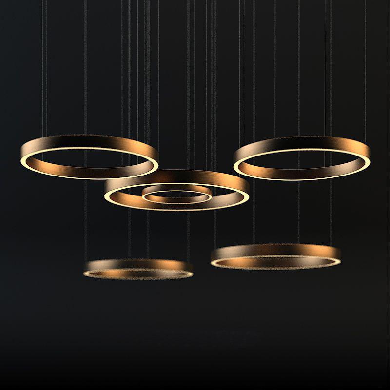 3d light ring horizontal model
