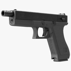 automatic pistol glock 18 3d max