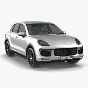 porsche cayenne turbo s 3d model