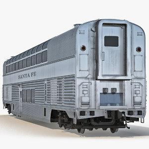 3d model railroad double deck lounge