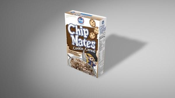3d model caja cereales