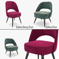 collins chair dining 3d model