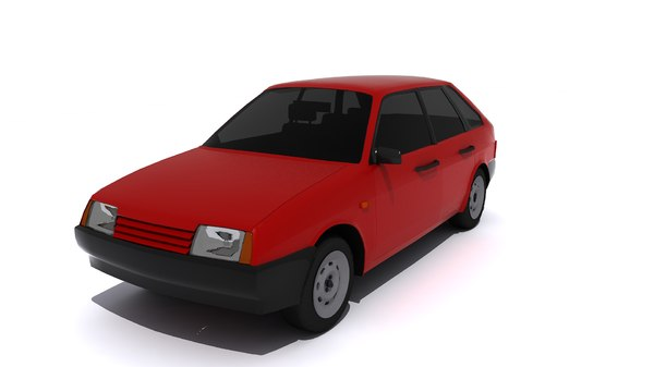 3d model of car russian 2109