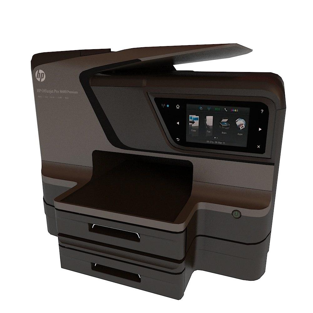 3d Model Hp Officejet Pro 8600