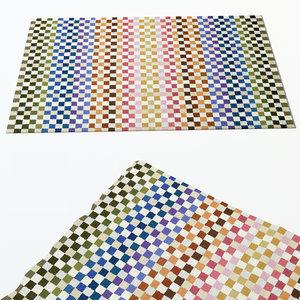 3d model carpet missoni home
