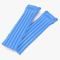 Inflatable Air Mattress 3 Blue 3D Model