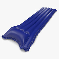 Inflatable Air Mattress 3 Blue 2 3D Model