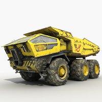 sci-fi dump truck 3d max