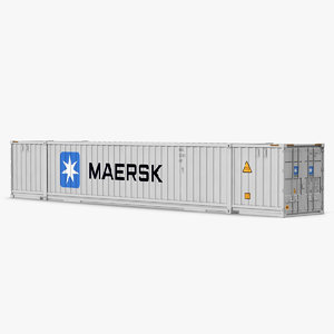 3d model of 53 ft shipping iso container