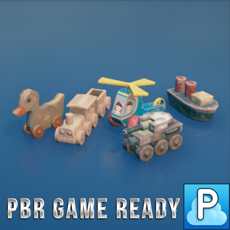 3d model wooden toys