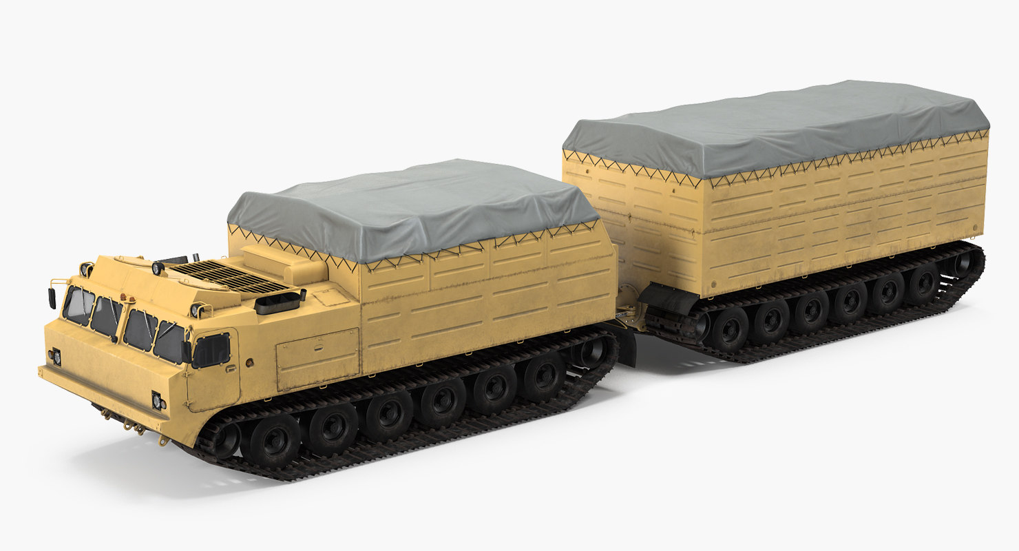 3D model polar articulated tracked vehicle