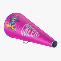 Cheerleader Megaphone Pink 3D Model