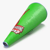 Cheerleader Megaphone Green 3D Model