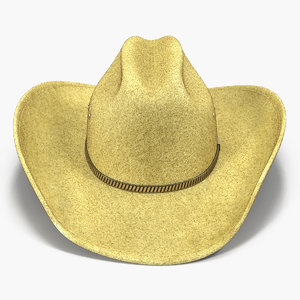 3d model cowboy hat 3 modeled
