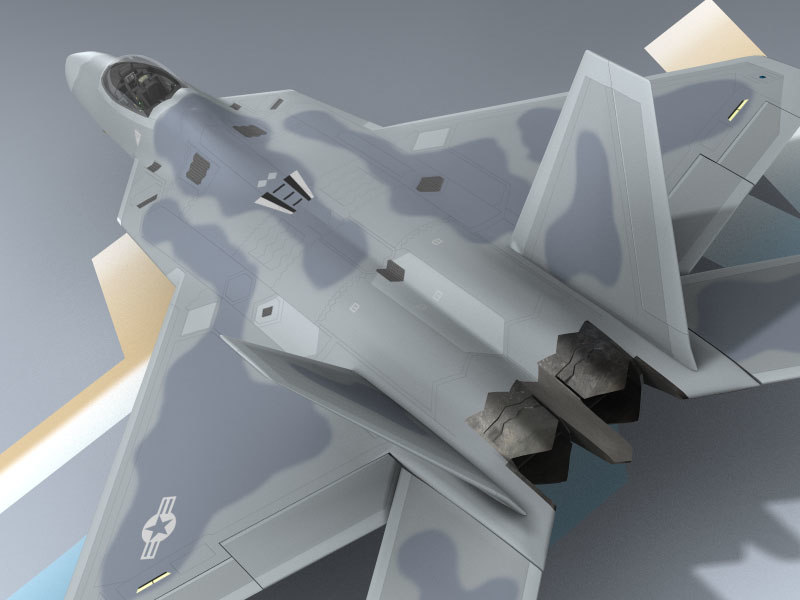 3d f-22a usaf f-22 model