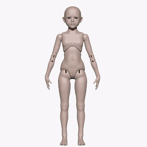 3d model ball jointed doll bjd