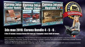 Corona in 3dsmax 2016 Bundle Vol 4 - 5 - 6 - Cd Front