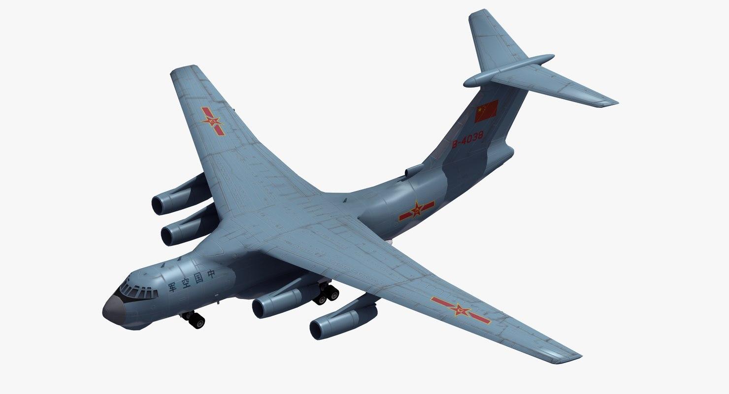 il-76 candid transport plaaf 3D model